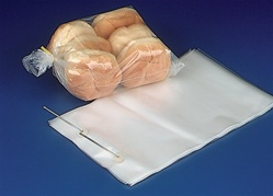 7.25x13.125x2.5 Wicketed Commercial Grade 1.25 mil thickness Poly Bakery Bags, 8020