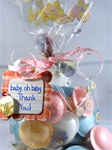 "4"" x 2.5"" x 9.5"" Baby O Baby Printed Cello Bags"