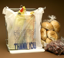 CT1520TY 10X5X19 Thank You Printed T-shirt bags / Merchandise Bags