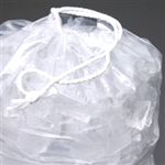12x19+1.5 10lb Drawstring Printed Metalocene Ice Bags 500/cs